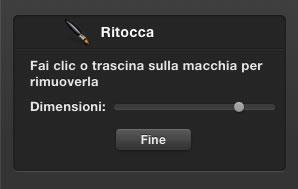 Strumento Modificare Foto Ritocco (Mac)