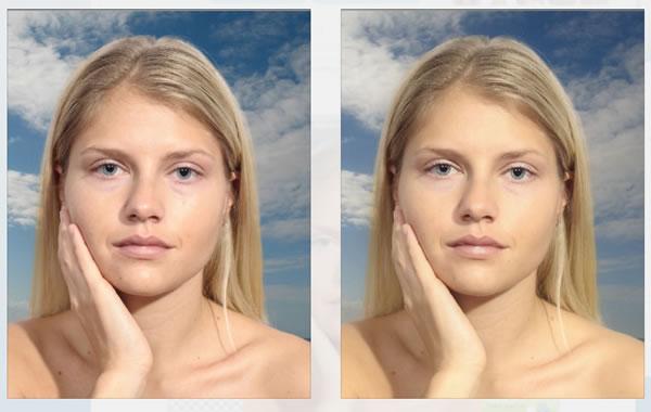 modificare foto viso online: risultato