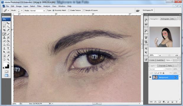 Eliminare imperfezioni screenshot